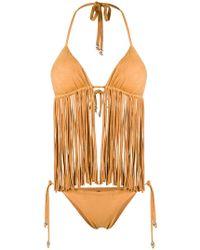 Fisico - Frayed Triangle Bikini Set - Lyst