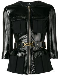 Elisabetta Franchi - Peplum Belted Jacket - Lyst