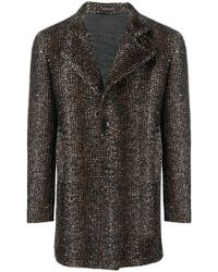 Tagliatore - Textured Single-breasted Coat - Lyst