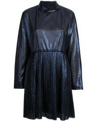 FEDERICA TOSI - Metallic Pleat Dress - Lyst