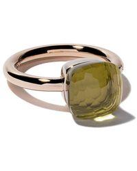 Pomellato - 18kt Rose & White Gold Medium Nudo Lemon Quartz Ring - Lyst