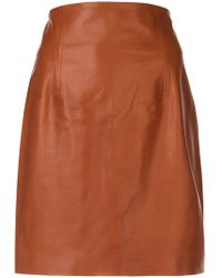 Rosetta Getty - Fitted Mini Biker Skirt - Lyst