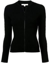 Jonathan Simkhai - Cut Out Sleeve Zipped Sweater - Lyst