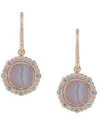 Astley Clarke - Lace Agate Luna Drop Earrings - Lyst