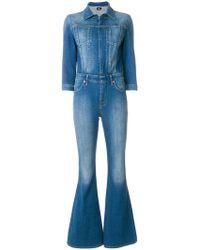 Hudson Jeans - Flared Denim Jumpsuit - Lyst