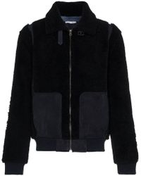 Lot78 - Shearling Leather Long Sleeve Jacket - Lyst