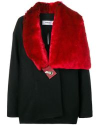 Chalayan - Faux Fur Scarf Coat - Lyst