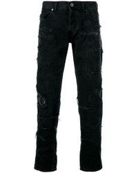 11cdf699543 Lyst - Diesel Black Gold 17cm 3d Extra Long Stretch Denim Jeans in ...