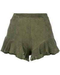 DROMe - Frill Detail Shorts - Lyst