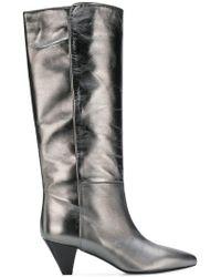 Twin Set - Heeled Metallic Boots - Lyst
