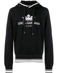 Dolce & Gabbana - Hooded Logo Sweatshirt - Lyst