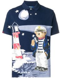 39c8fe992 Polo Ralph Lauren - Bear Print Polo Shirt - Lyst