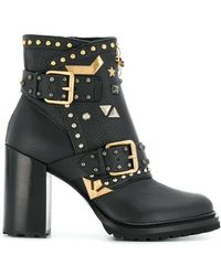 Fabi - Embellished Ankle Boots - Lyst