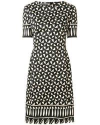 Alberta Ferretti - Kleid mit geometrischem Print - Lyst
