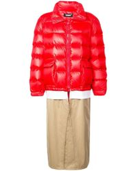 Undercover - Layered Padded Coat - Lyst
