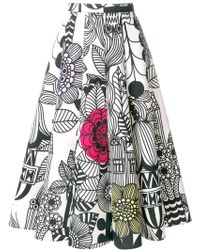 Junya Watanabe - Sketch Print Midi Skirt - Lyst