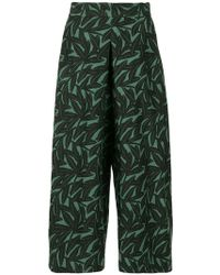 WHIT - Foliage Print Culottes - Lyst