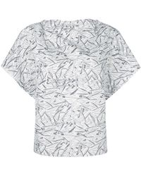 Chalayan - Printed Short-sleeve Blouse - Lyst