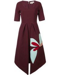Delpozo Kleid mit spitzem Saum