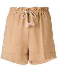 Twin Set - Drawstring Waist Shorts - Lyst