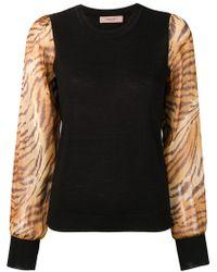 Twin Set - Tiger Sleeve Jumper - Lyst