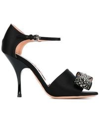 Rochas | Embellished Bow Sandals | Lyst