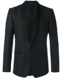 Dolce & Gabbana - Micro Dotted Tuxedo Jacket - Lyst