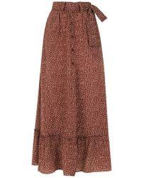 Egrey - Long Printed Skirt - Lyst