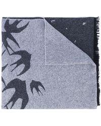 McQ - Swallow Print Scarf - Lyst