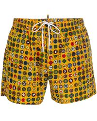 DSquared² - Heritage Swim Shorts - Lyst
