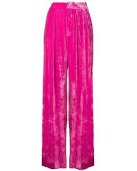 Erika Cavallini Semi Couture - Pleated Velvet Trousers - Lyst