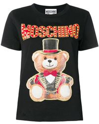 323683bfeda Women's Moschino T-shirts On Sale - Lyst