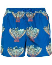 NOS Beachwear - Graphic Print Swim Shorts - Lyst