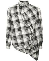 ANREALAGE - Tartan Asymmetric Shirt - Lyst