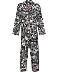 Prada - Comic Print Pyjamas - Lyst