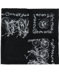 Alexander McQueen - Pañuelo con motivo de esqueletos - Lyst