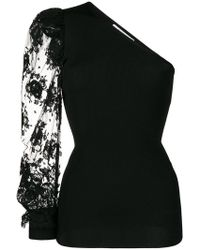 Givenchy - One-shoulder Lace Blouse - Lyst