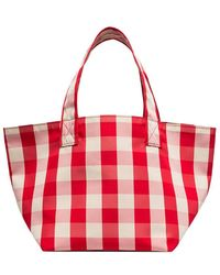 Trademark - Red And White Gingham Grocery Bag - Lyst