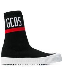 Gcds - Logo Hi-top Sock Sneakers - Lyst