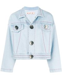Marni - Cropped Denim Jacket - Lyst