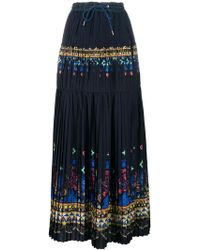 Sacai - Lace Printed Maxi Skirt - Lyst