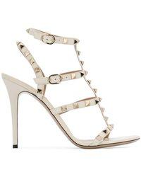 Valentino - Rockstud Embellished Strappy Heels - Lyst