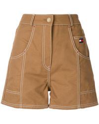 Tommy Hilfiger - High Waisted Flared Leg Shorts - Lyst
