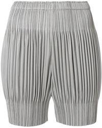 Pleats Please Issey Miyake | Corrugated Shorts | Lyst
