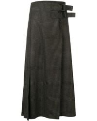 Studio Nicholson - Double Belted Quilt Skirt - Lyst