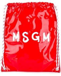 MSGM - Contrast Logo Backpack - Lyst
