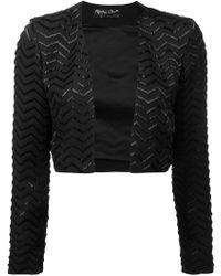 Alice + Olivia - Zigzag Pattern Cropped Jacket - Lyst
