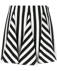 Valentino - Engineered Stripe Godet Skirt - Lyst