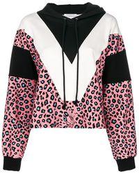 Vivetta - Leopard Print Panelled Hoodie - Lyst