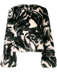 Shrimps - Faux Fur Abstract Print Coat - Lyst